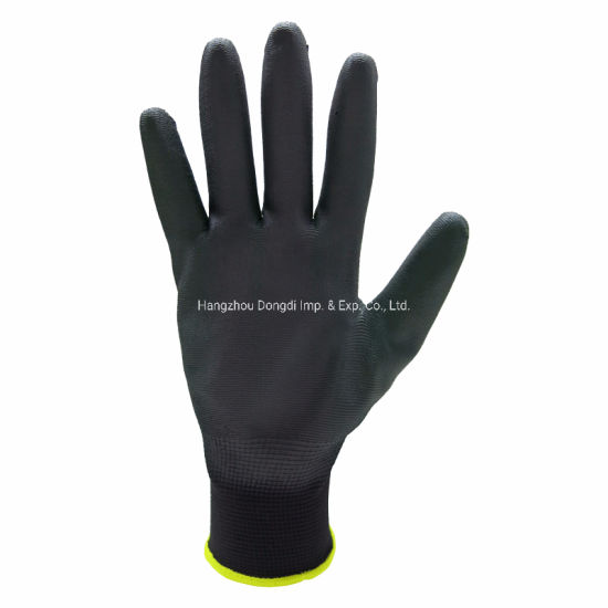 13G Polyurethane Palm PU Coated Hand Care Industrial Knitted Gloves Ce 4131