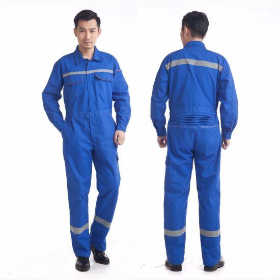 Custom Logo Cheap Blue Anti-Static Labour Uniform Clothes Mechanic Coverall Suit