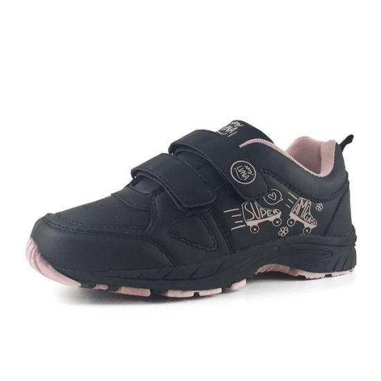 Greatshoe Wholesale Lightweight Double Buckle Strap Cloth Sneakers Casual Girls Mesh Sport Shoes
