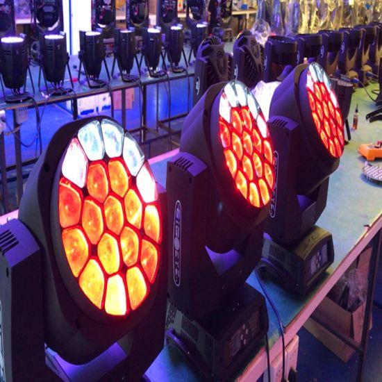 Stage Lighting DJ 19PCS 15W RGBW 4in1 Zoom Dyeing Light