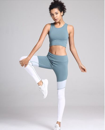 2019 Wholesale Women Yoga Set Sport Pants Clothing Fitness Bra and Leggings Clothes Gym Fashion Track Suits Wear