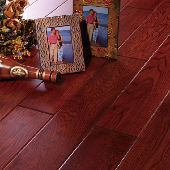 Best Quality Red Oak Solid Wooden Flooring pictures & photos