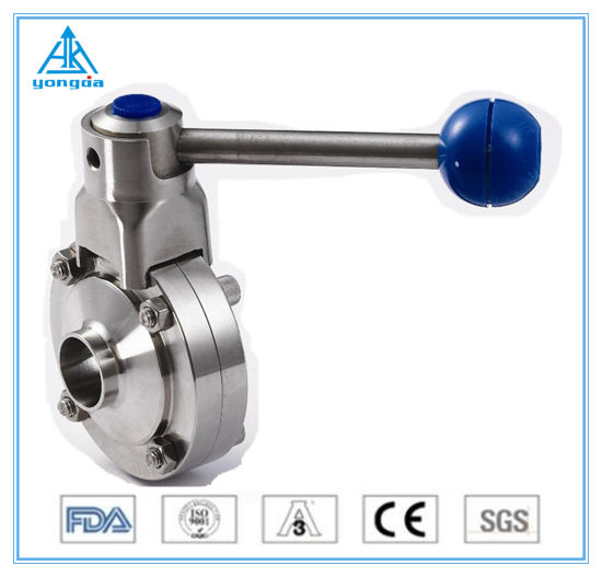 China Stainless Steel Food Grade Sanitary Pneumatic Hygienic Ball Diaphragm Check Butterfly Valve