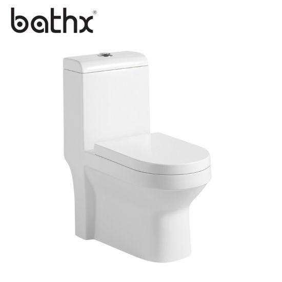China Manufacturer Bathroom Sanitary Ware White Glazed One Piece Toilet