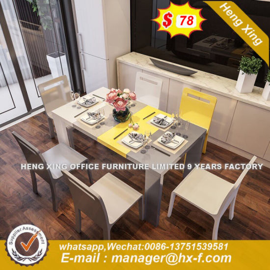 Hot Sale Modern Extension Wood Solid Dining Table (HX-8DN007) pictures & photos