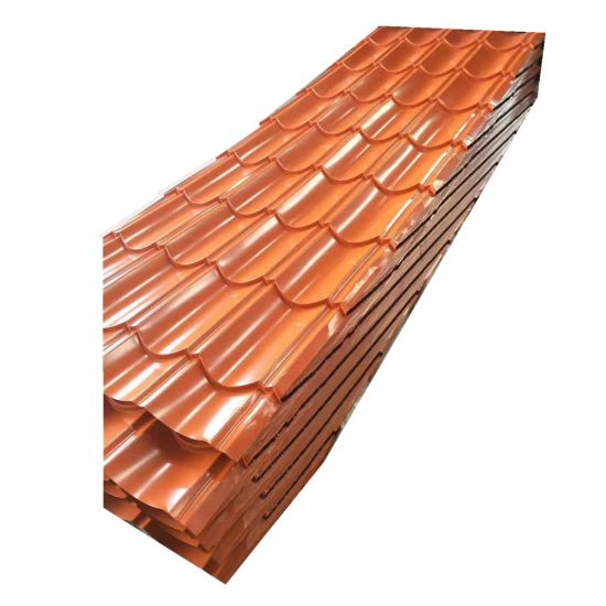 Z120 34 Gauge PPGI Color Coated Galvanized Corrugated Roofing Sheet Price