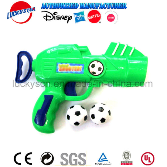 New Red Blue Color Plastic Football Toy Gun