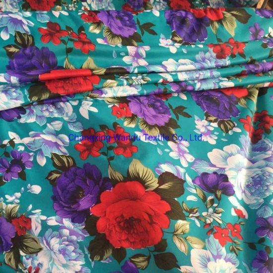 100% Polyester Flower Designs Disperse Printed Bedsheet Fabric