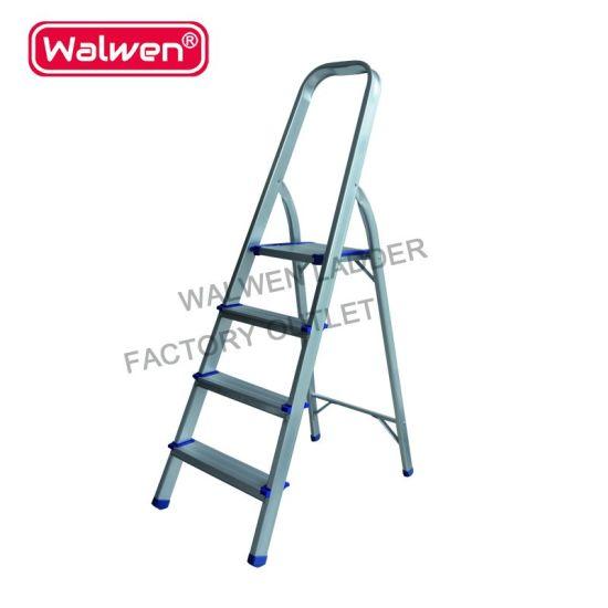 a Frame Folding Portable Ladder Sizes 4 Step Household Aluminum Ladder