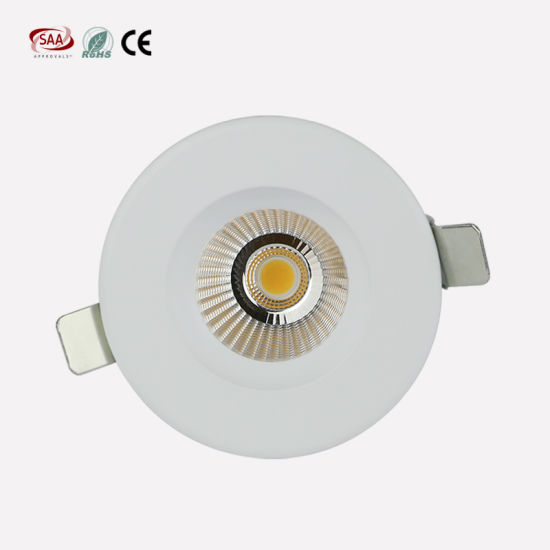 12W Triac Dimmable Recessed COB Downlights Aluminum Body High CRI 75mm Cut out for Hotel