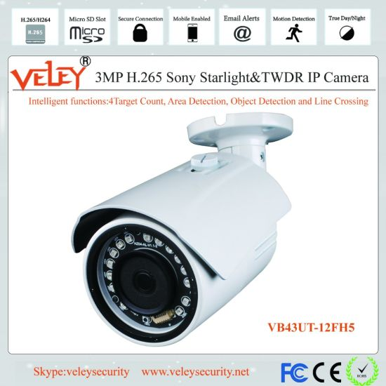 3MP IP Network IR Waterproof HD Bullet Camera Surveillance CCTV pictures & photos