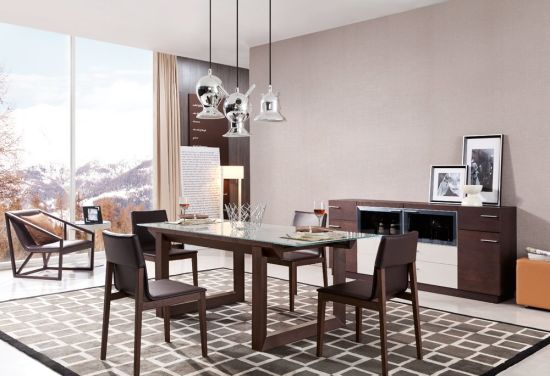 Modern Dining Room Wooden Dining Table (FCD02) pictures & photos