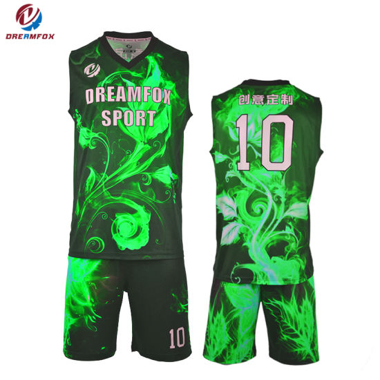china custom sportswear sublimated basketball uniform design
