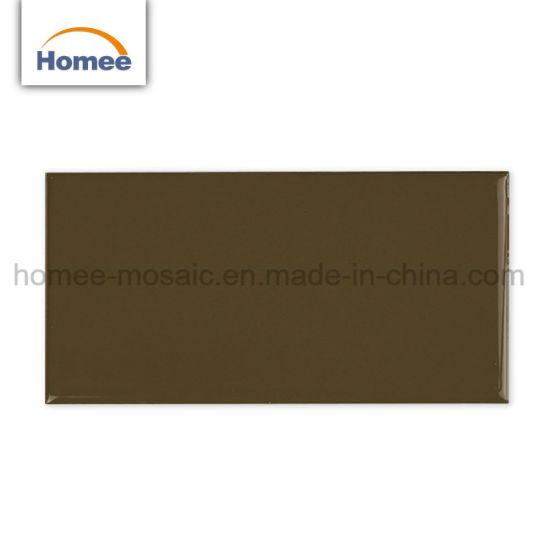 Beautiful Design Brown Color Kitchen Backsplash Subway Mosaic Tile Ceramic