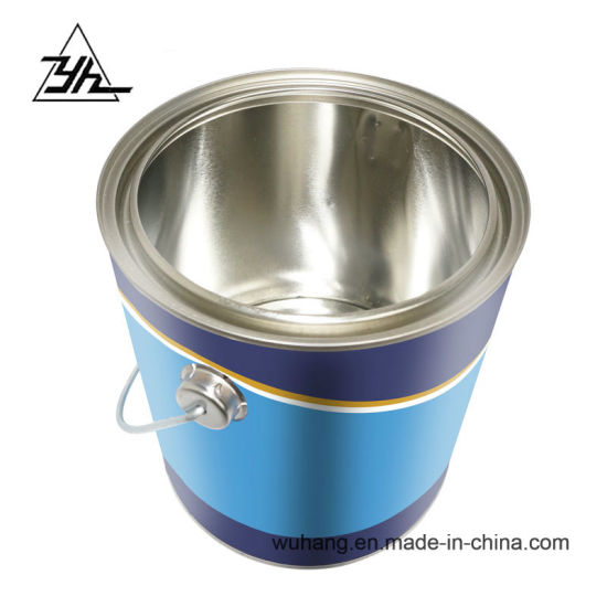OEM 2.5 Liter Metal Tin Can Paint Cans with Lid/Handle pictures & photos