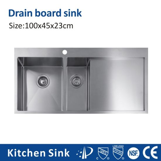 Africa R0 2 3mm 6040 Portable Over Counter Single Double Basin Metal Ss 201 304 Vegetable Sinks Polishing by Hand for House Project with Drainer Kitchen Sink