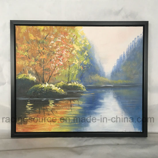 Framed Wall Art Canvas Prints Acrylic Paint Landscape Oil Painting