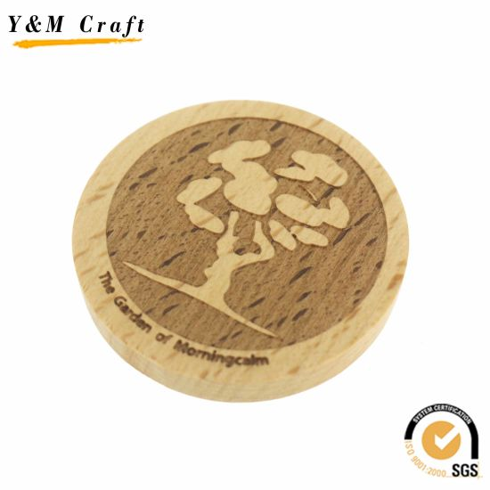 china customized round shape wooden magnet q09735 china custom