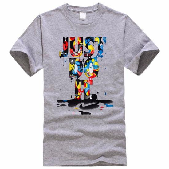 Letter Print Men T Shirt Short Sleeve T-Shirt Men