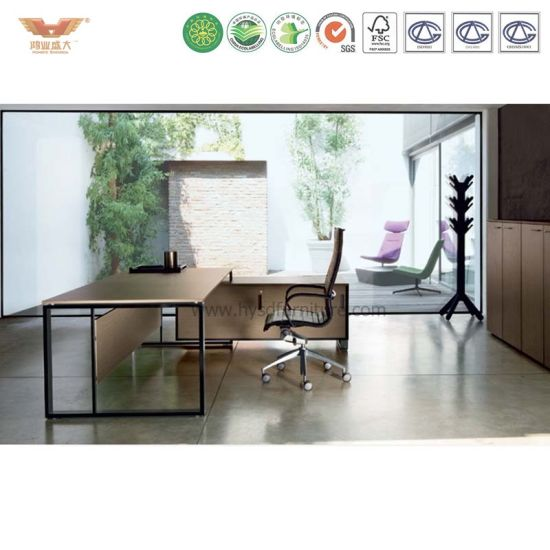 china simple design wooden table and chair high quality managers