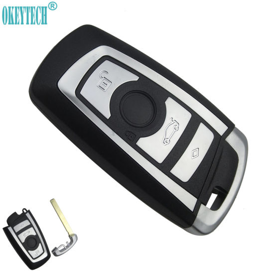 Replacement Modified Remote Car Key Shell for BMW 1 3 5 6 7 Series X3 X4  Key Fob Case 3 Buttons Insert Blade Key Cover