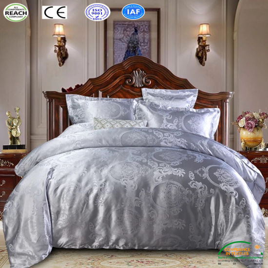 Queen Duvet Cover Bed Set Print Black Bedclothes Satin Silk Bedding Outlet