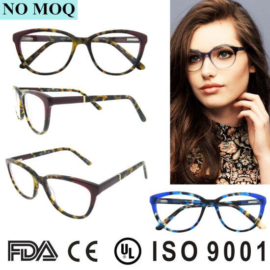 30b4a0e25e15 2019 Hot Sale Women Fashion Eyewear Optical Frames Custom Actate Cat Eye  Glasses pictures   photos