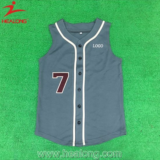Healong Best Selling Polyester Baseball Uniform Cheap Sublimation Baseball Uniform pictures & photos
