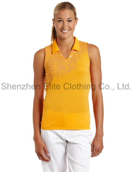 9b209504a99217 China Women Customized Sleeveless Polo Shirts (ELTWPJ-396) - China ...