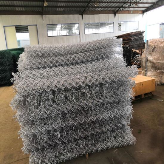 Factory Wholesale Used Galvanized or PVC Coated Chain Link Fence for Sale