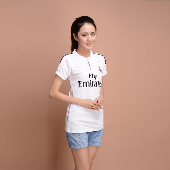 China Real Madrid Women Soccer Jersey. White T-Shirt - China Women ... c5c983b4f