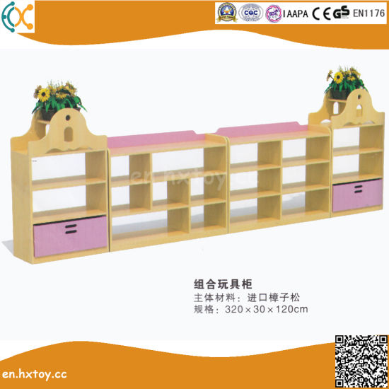 High Quality Preschool Children Wooden Toy Shelf