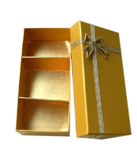 Golden Color Chocolate Cardboard Paper Gift Box