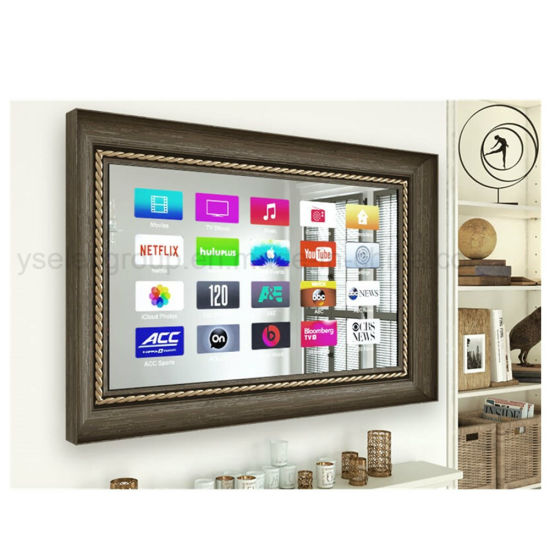 Yashi Android Full HD TV Mirror 3D LED Tempered Glass Mirror 65 Inch Smart TV pictures & photos
