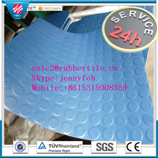 Gym Rubber Flooring/Hospital Rubber Flooring/Children Rubber Flooring pictures & photos