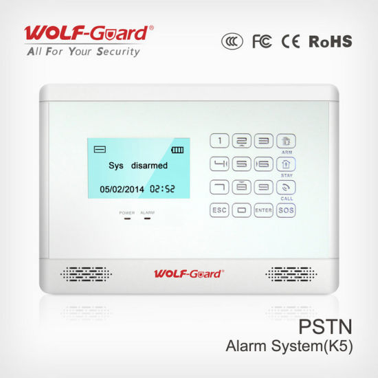 Intrusion Alarm System LCD Display with Appliance Control 4 Wired and 99 Wireless Defense Zones pictures & photos