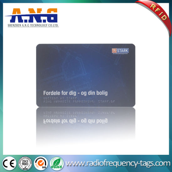 Tk4100 PVC Employee Security ID RFID Smart Card with Cmyk Color Printing