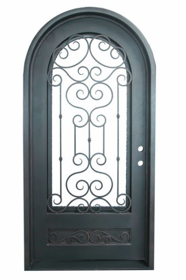 Stainless Steel Full Round Top Single Entry Door for House