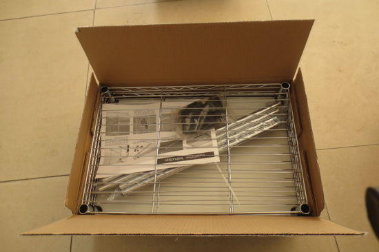 Assembly Adjustable Chrome Wire Shelving Rack From Metal Furniture pictures & photos
