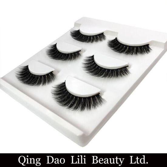 361a188e670 3 Pairs Natural False Eyelashes Thick Makeup Real 3D Lashes Eyelash  Extension Non Magnetic Fake Lashes Long Silk Eyelashes