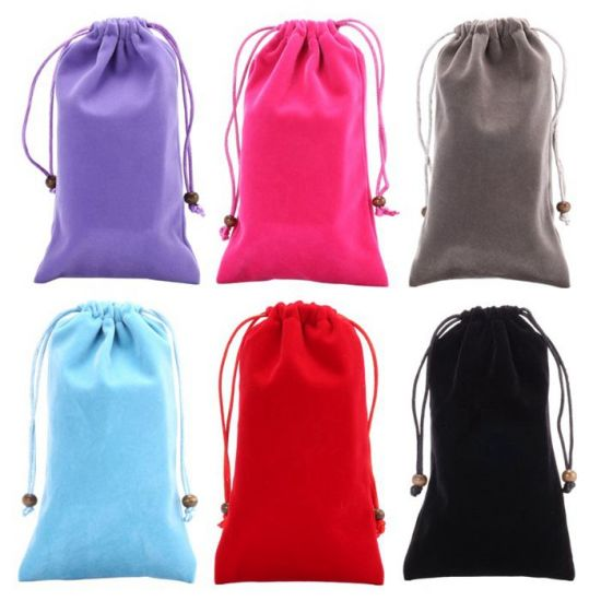 Wholesale Large Velvet Drawstring Shopping Pouches Gift Bag (CVB-1173)