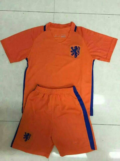 the best attitude 77960 f5be9 China 2016/2017 Netherlands Home Kid Soccer Kits, Kit ...