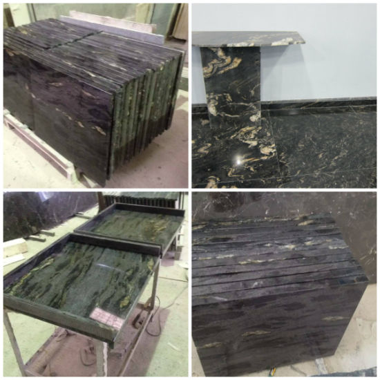 Wholesale Cosmic Black Titanium/Galaxy Granite Kitchen/Concrete/Formica/Bathroom Butcher Block Countertops Material pictures & photos