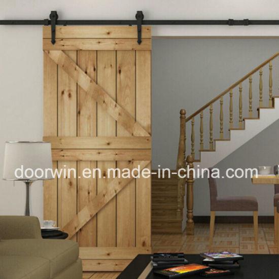 China American Barn Door Oak Solid Wood Sliding Doors Oak Wooden