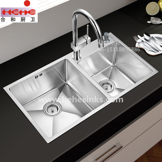 60/40 Topmount Handmade Wash Sink, Handcraft Kitchen Sink (HMTD3117L) pictures & photos