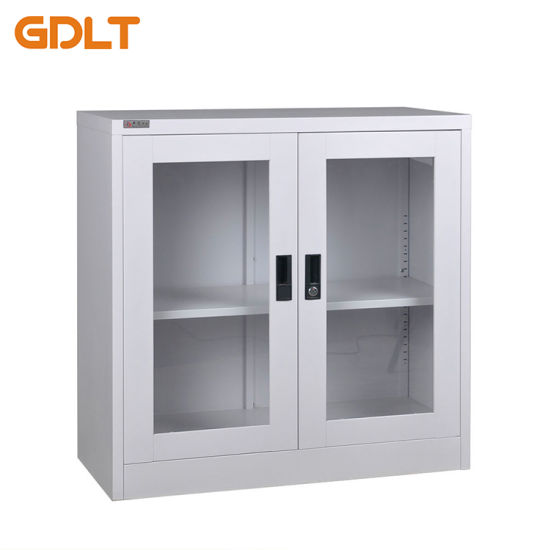 China 2 Doors Glass Short Ark Metal Steel Cabinet China 2 Doors