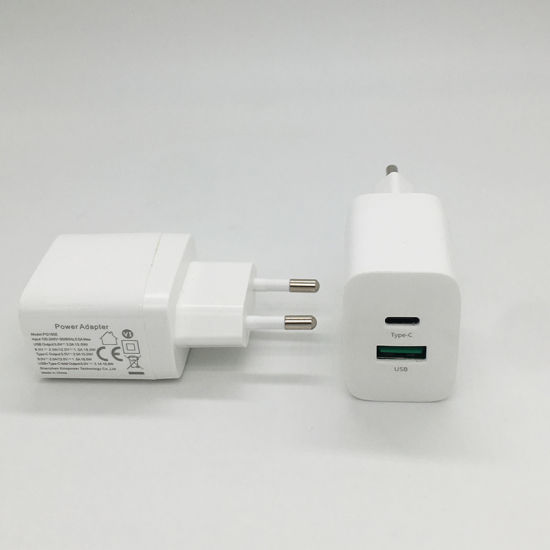 OEM Logo Mobile Accessories Fast Quick Charger EU Plug USB Charger for iPhone and Android