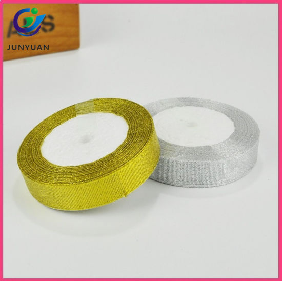 wholesale christmas ribbon gold and silver metallic decorative ribbon - Christmas Ribbon Wholesale
