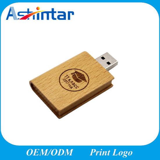 Universal Bamboo USB Flash Drive Photo Album Box Portable Computer External Storage Device USB2.0 Memory Stick