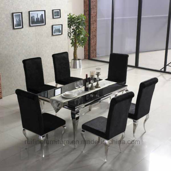 Customized 6 Seater Gl Dining Table